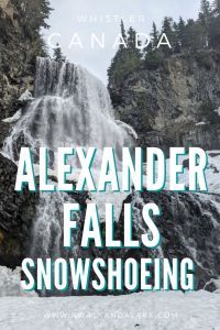 Alexander Falls - A fun snowshoeing trail near Whistler