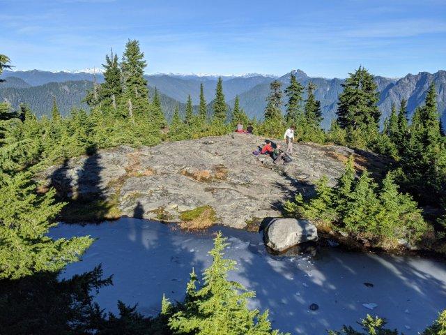 Ice and views on Hollyburn Peak