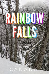 Rainbow Falls in Whistler - A short family friendly hike or snowshoe