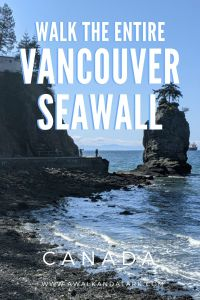 You can walk the entire Vancouver Sea Wall in a single day