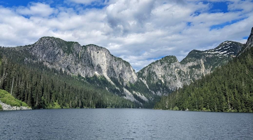 Mountains over Eaton Lake