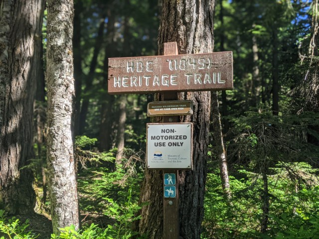 HBC (1894) Heritage trail signs