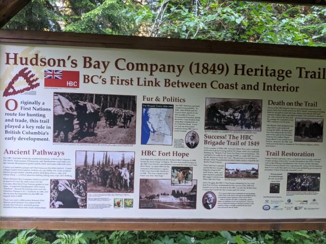 Hudson Bay Company (1849) Herritage trail sign