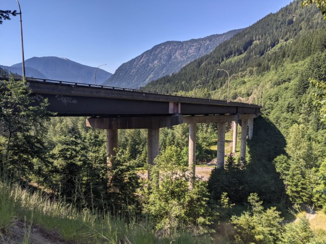 Coquihalla Highway from the trailhead