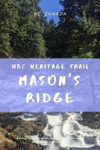HBC Heritage trail to Mason's Ridge in the springtime