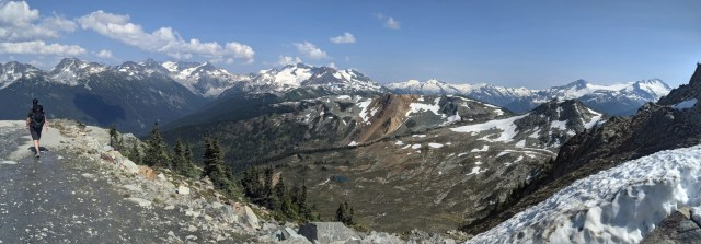 Views down to Harmony Lake and the Musical Bumps trail