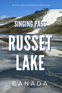 Russet Lake via Singing Pass - the free route