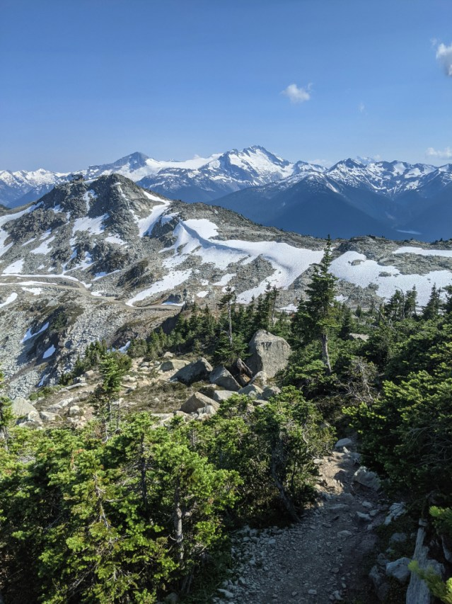 The hike down to the High Note trail