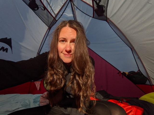 Curly hair after a couple of camping days in braids