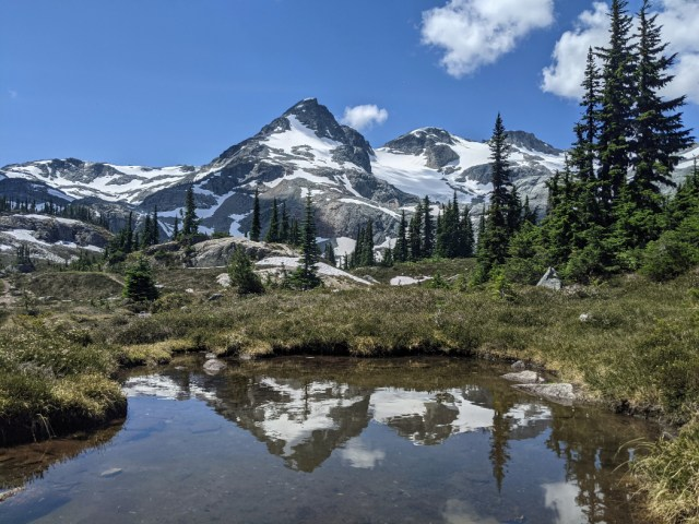 Locamotive Mountain, Tender Mountain and Caboose Peak