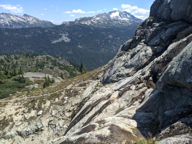 Rocky scramble up to the ridge