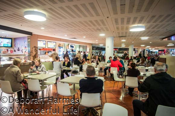 Diners at the food court on the lower level of the Southgate shopping and dining complex in Melbourne, Australia