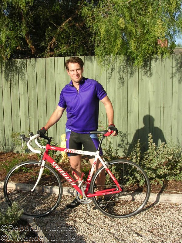 Mark and one of his STOLEN Specialized bikes