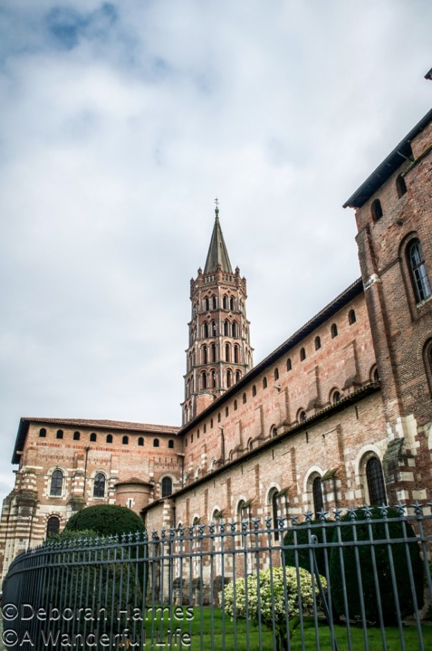 UNESCO World Heritage Site Basilica of St. Sernin (St. Saturnin) in Toulouse, France.