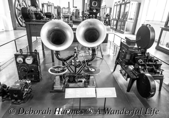 An early movie theatre sound system.