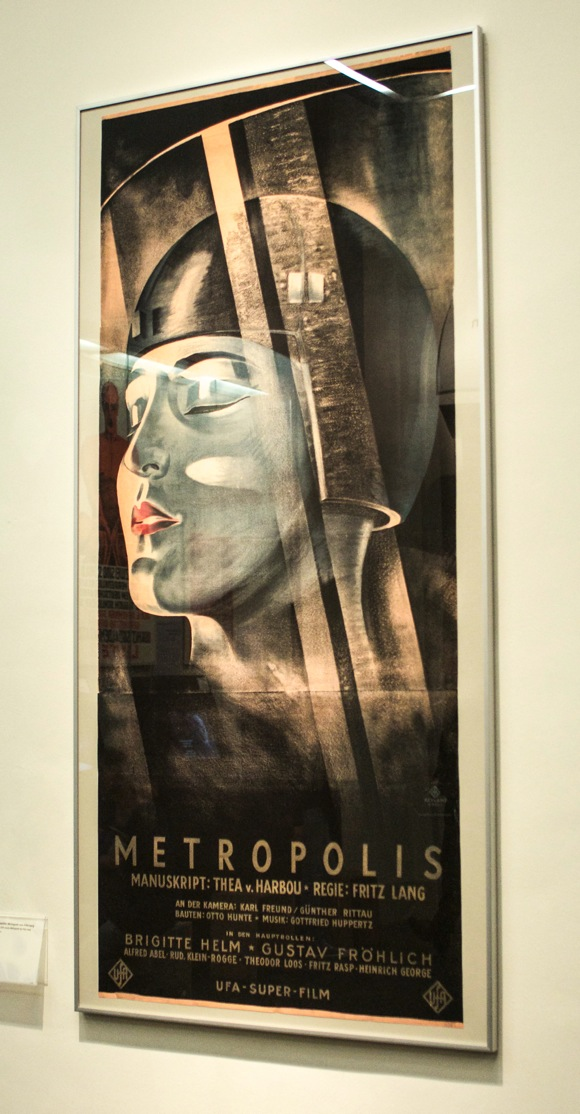 A poster for the 1927 Fritz Lang masterpiece film -- Metropolis.