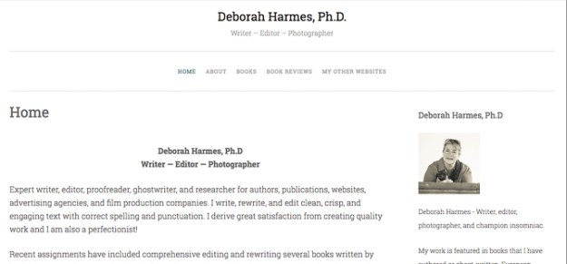 The refreshed and relaunched website at deborahharmes.com