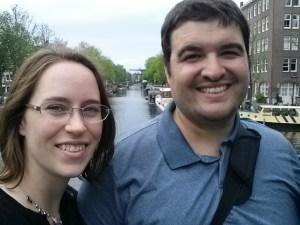 Sean and Jessica in Amsterdam