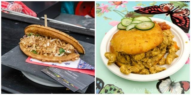 Rollende Keukens Pulled Pork BBQ | Bara with chicken