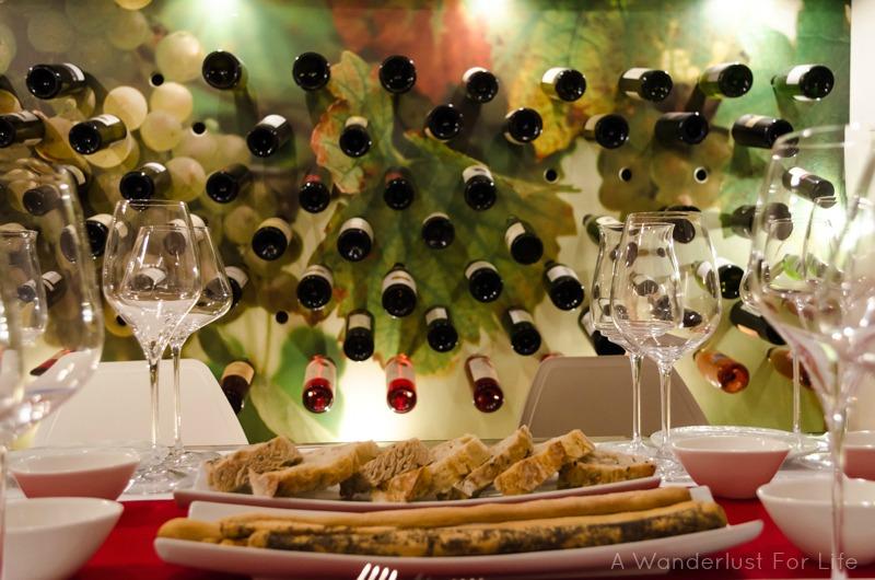 Wine Tasting in Sorrento - the setting