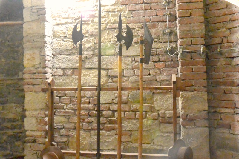 Weapons stored under the Old Town Hall