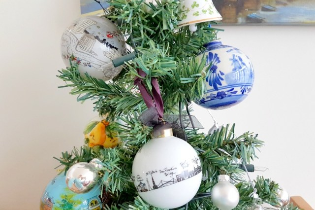 Christmas ornaments are a great item to bring back from a holiday