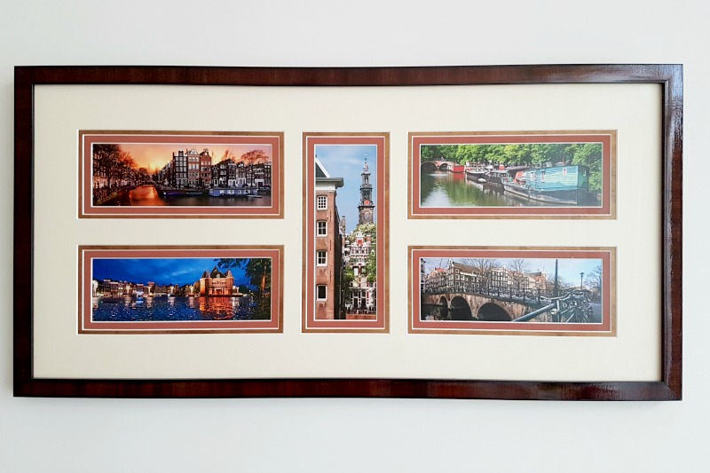 Postcard collage of Amsterdam