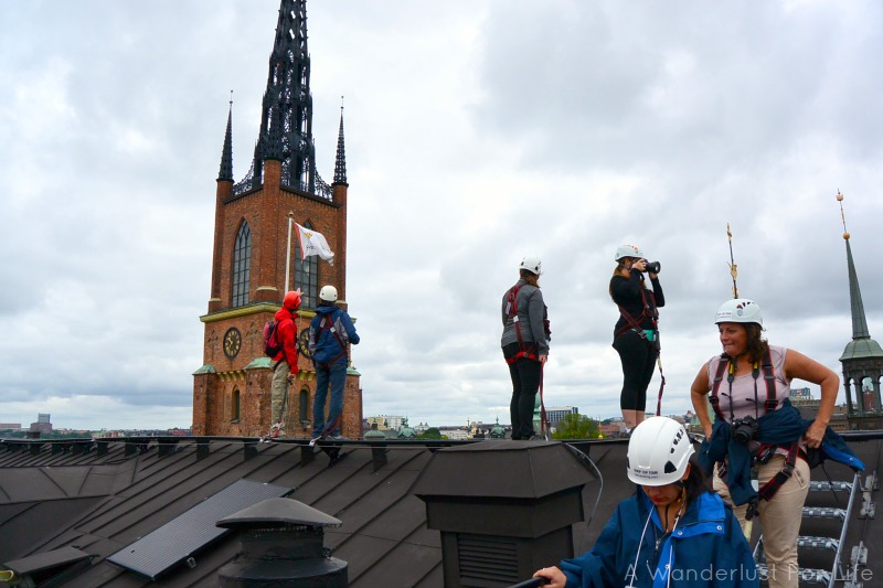 Bloggers on the roof