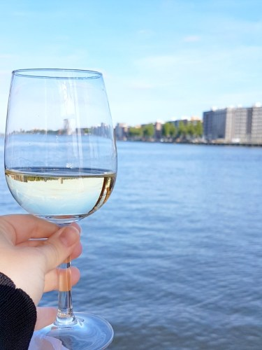 Toast to a new home in Amsterdam