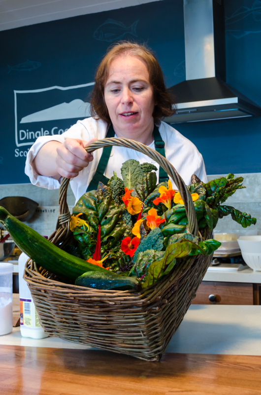 Dingle produce for a cooking school