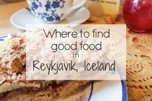 Good food in Reykjavik