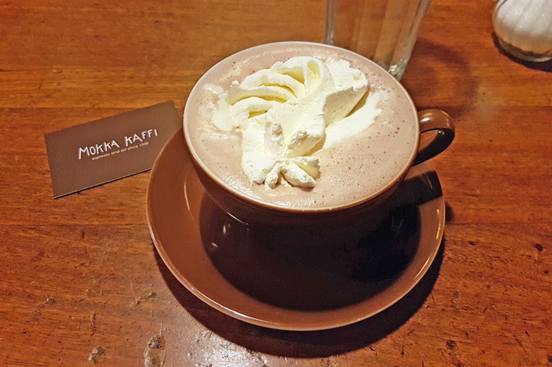Warm up with hot cocoa in Reykjavik
