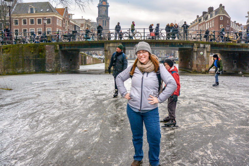 Jess on the Amsterdam Canals