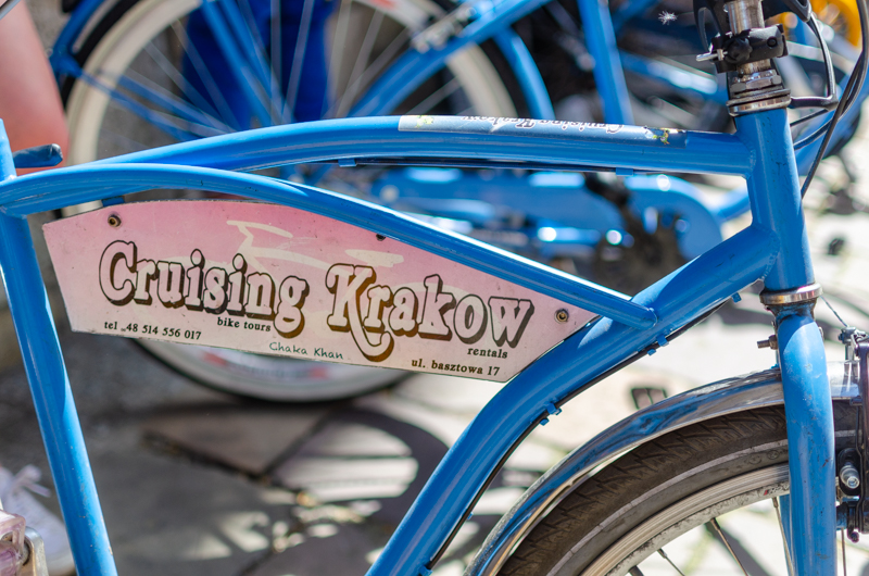 Cruising Krakow bike