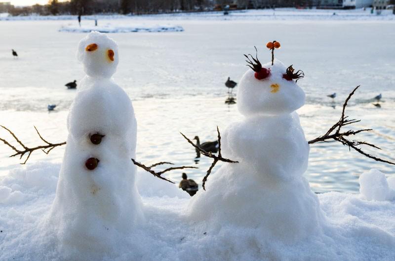 snowmen in Reykjavik