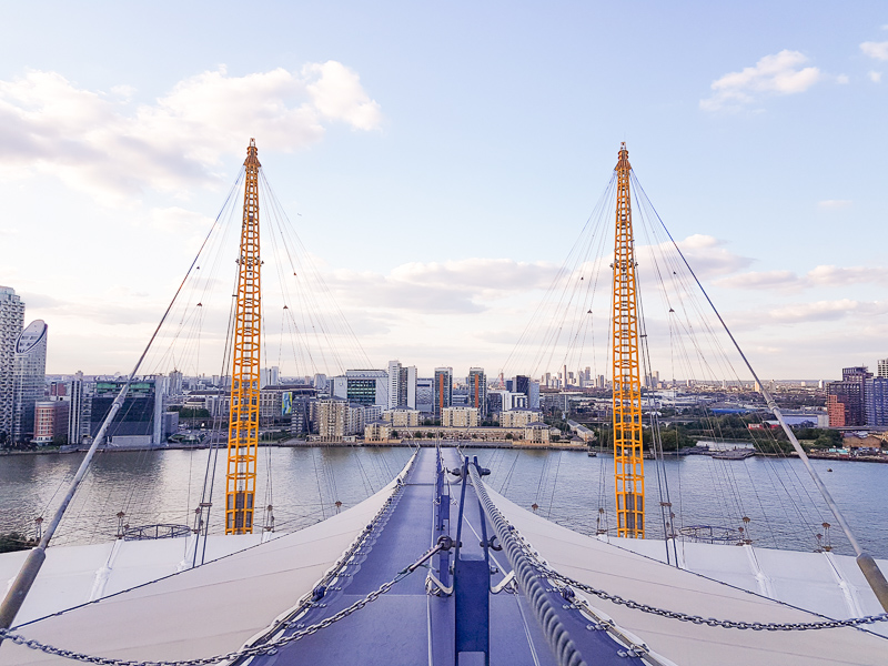View down the O2 path