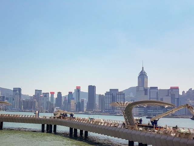 View of Hong Kong from Avenue of the stars