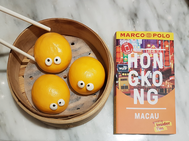 dim sum with Marco Polo guide book