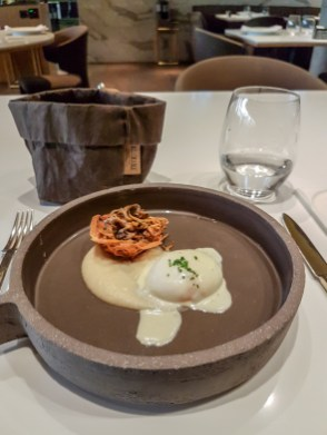 Poached Egg with Mushrooms -- Monvinic, Bareclona