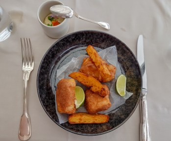 Fish and Chips -- Le Ciel, Vienna, Austria