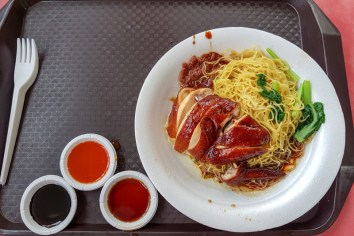 Soy Sauce Chicken and Noodles -- Lio Fan Hawker stall, Chinatown Hawker Center, Singapore