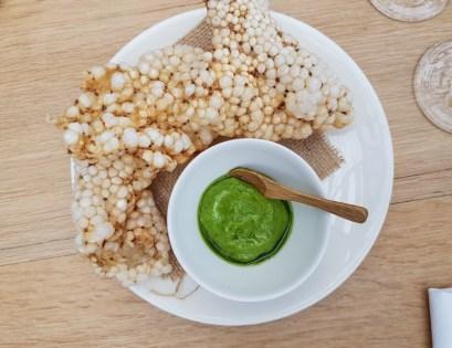 Puffed quinoa -- De Kas, Amsterdam, Netherlands