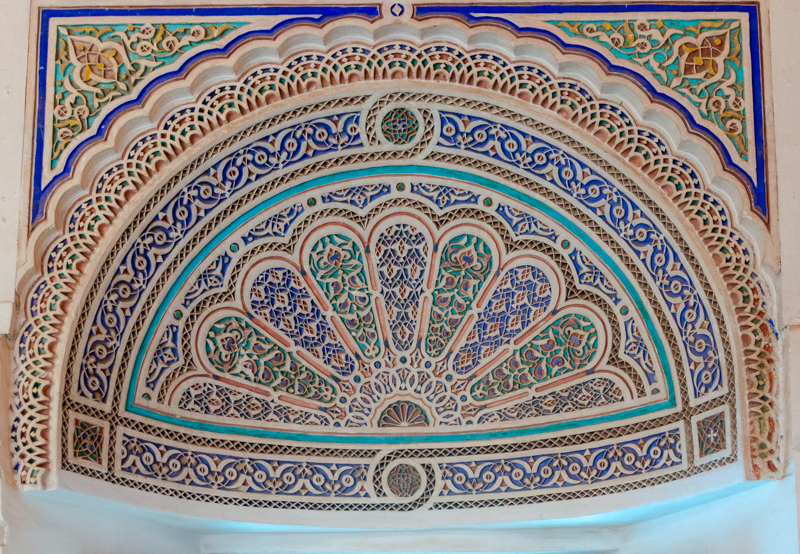 Marrakech palace ceiling
