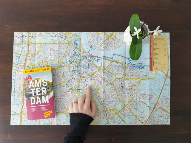 Amsterdam Marco Polo guide map