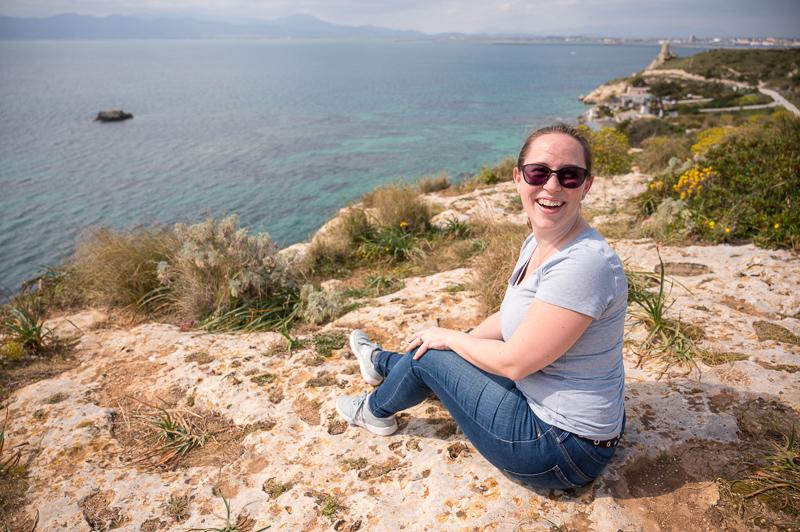 Overlooking the water