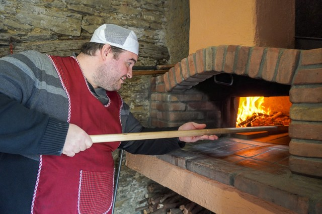 Sean with pizza oven