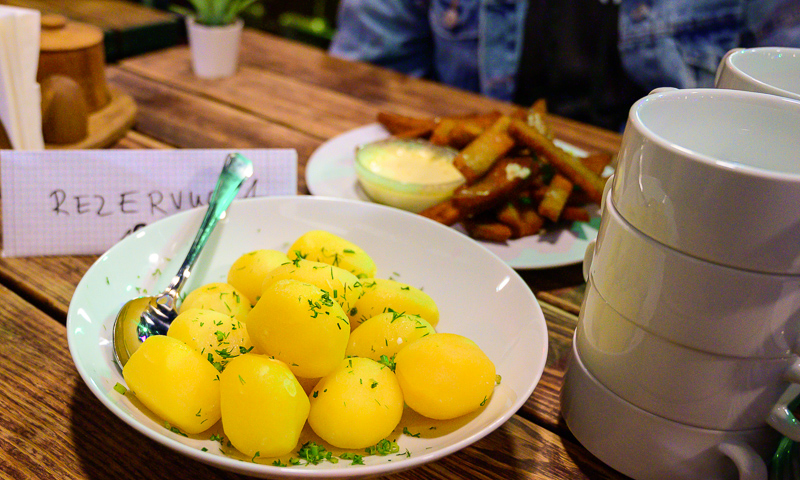 Urban Adventures Vilnius Food Tour boiled Potatos