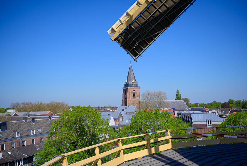 View on windmill
