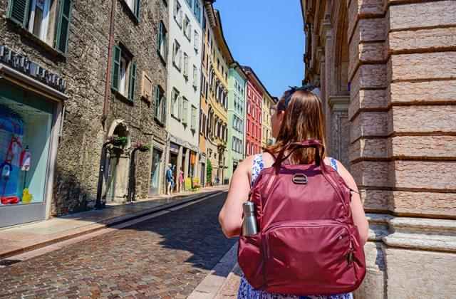 Trento colorful houses pacsafe