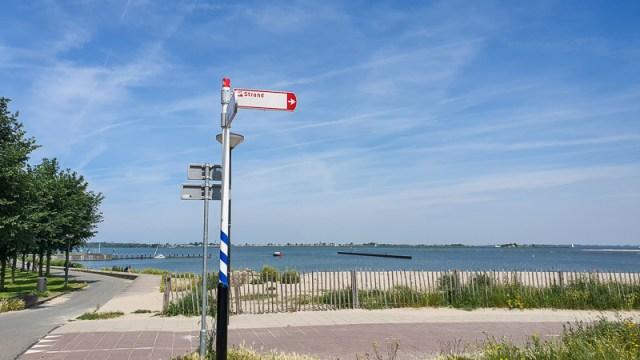 Amsterdam Beach Strand sign